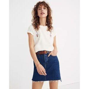 Madewell Step Hem Stretch Denim Straight Skirt